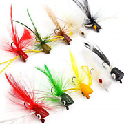 Xfishman Fly Fishing Poppers Lures For Bass Panfish Flies Topwater Popper