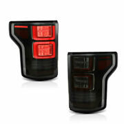 Custom Full Led Smoked Taillights W/ Red Turn Sig For 18-20 Ford F-150 All Trims