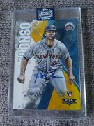 2020 Topps Archives Signature Series Pete Alonso Rc Auto New York Mets 1/1 Fire