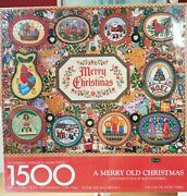 Springbok - New - Sealed - A Merry Old Christmas Keepsake Puzzle - 1500 Pieces