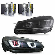 Free Shipping To Pr For 10-13 Golf Mk6 And R Demon Eye Headlights+h7+d2s Bulbs