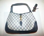 1961 Jackie Hobo Bag In Navy Guccissima Print With Extender