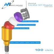100 Dental Titanium Locator Abutment Full Set And 3 Types Silicone And Metal Housing