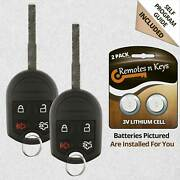 2x Car Transmitter Alarm Remote Key For 2014 2015 2016 Ford Transit Connect 4b
