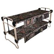 Disc-o-bed Xl Cam-o-bunk Benchable Double Cot W/organizers, Mossy Oak