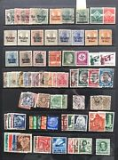 German Stamp Mixed Collection Wwii West/east Germany, Bayern, Saar And Local Print