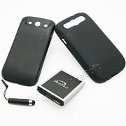 Acesoft 7570mah Extended Battery Cover Case Pen For Samsung Galaxy S3 I535 I9300