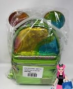 Disney Aulani Exclusive Rainbow Sequin Shaved Ice Mickey Loungefly Backpack