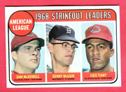 Great Centering 1969 Topps Leaders-mclain/tiant/mcdowell 11 Exmt++/nrmt-