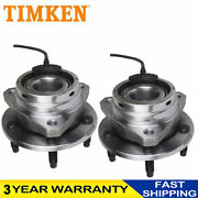 Timken Front Wheel Hub Bearing Assembly Pair For Chevy Malibu Hhr Cobalt W/abs