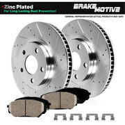 For Ford Tbird S Type Lincon Ls Front Drill Slot Brake Rotors And Ceramic Pads