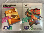 New Paint Atari 400 800 1200 Home Computer Vintage Superboots Software + Filing