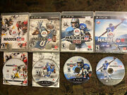 Sony Playstation Ps3 Bundle/lot Madden Nfl Football 10 + 13 + 25 + 16 Tested