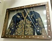 18th Antique Ottoman Turkish Silver Metallic Embroidery Threads Jacket With Fram