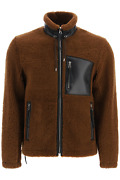 New Loewe Shearling Jacket H526330xab Camel Black Authentic Nwt