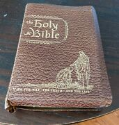 Vintage The Holy Bible Heritage Edition 1950 With Bookmark King James Version.