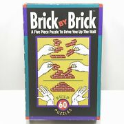 Binary Arts Board Game Brick By Brick - 5 Piece Spatial Puzzle Game Complete