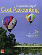 Gen Combo Fundamentals Of Cost Accounting Connect 1s Access Card