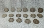 Lot Of 16 Us Silver Barber Quarters Dated 1899 - 1916-d