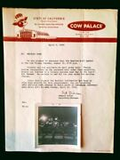 Beatles Letter To Fan Club From Cow Place With Photo Of Press Conference 4/1965