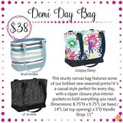 Brand New Thirty One Demi Day Bag Bloomin Bouquet Approx 8.75 H X 9.75andrdquo L X 5andrdquod