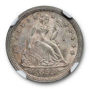 1853 10c With Arrows Seated Liberty Dime Ngc Ms 64 Uncirculated Sharp