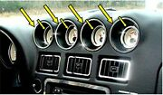 Dodge Viper 96-02 High Polished Stainless Steel Dash Gages Trim Rings Acc-961020