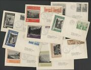 U.s. First Day Covers National Parks Issue Imperf 756-65 Matched Set