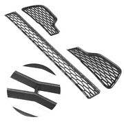3pcs Front Bumper Lower Grill Set Grille Guard For Maserati Ghibli 2014 ‑ 2017