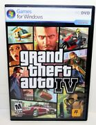 Grand Theft Auto Iv Pc Game For Windows Gta4 2 Discs Complete Case Manual Poster