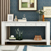Console Table For Entryway Hallway Sofa Table W/storage Drawers And Bottom Shelf