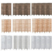 Wood Wall Divider Privacy Folding Screen 4/6/8 Panels Freestanding Antique Room