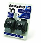 Boatbuckle G2 Retractable Transom Tie-down - Pair Stainless Steel New