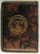 Art Deco 1930s St. Thomas Academy College Officers Club Leather Compact St Paul