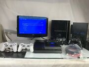 Sony Playstation 4 Ps4 500gb Console Jet Black Ps3 Ps2 Ps1 Console Bundle Remote