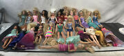 Lot Of Barbie Dolls And Disney Dolls With Clothes From 1999 To 2015 25 Dolls