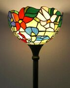 Enjoy Style Floor Lamp Hummingbird Flower Stained Glass Antique 66andrdquoh12andrdquow