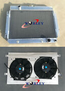 Aluminum Radiator And Shroud And Fans For 1964-1967 Chevy El Camino/chevelle/ Impala