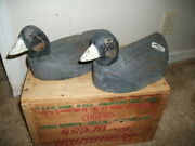 Carved Folk Art Coot Duck Decoys Made With Wood From An Old Fence Post
