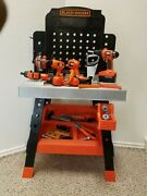 36 Black And Decker Mega Power 'n Play Workbench Childs Construction Tool Playset