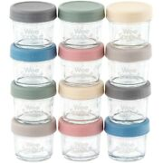 Weesprout Glass Baby Food Storage Containers 4oz Set Of 12