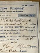 354 1864 Dunham Copper Company Keweenaw Copper Country Stock Certificate