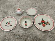 Epoch Holiday Joy Dinner Salad Cup And Saucer Dishes Set 8200 Replacements