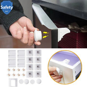 Safety Magnetic Baby Child Cabinet Proof Cupboard Locks Lock Invisible Drawer Us