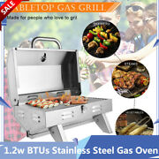Stainless Steel Oven Gas Grill Single Row Square Small Stove Portable 1.2w Btus