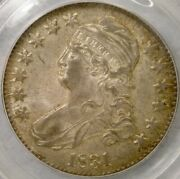 1831 Capped Bust Letter Edge Silver Half Dollar Spectacular Toned Gem Pcgs Ms 62