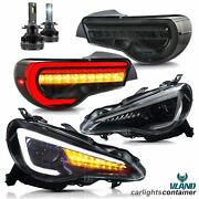 Led Headlights+smoke Taillights+d2s Bulb For 13-16 Scion Fr-s 17-19 86 13-20 Brz