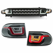 Free Shipping To Pr For 07-14 Fj Cruiser Headlights+black Grille Led Taillights