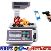 Digital Weight Scale Price Computing Retail Food Meat Scale Thermal Printer 30kg