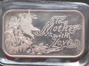 1994 Silver Towne Mother's Day Silver Art Bar St-93v4 Lot P1566